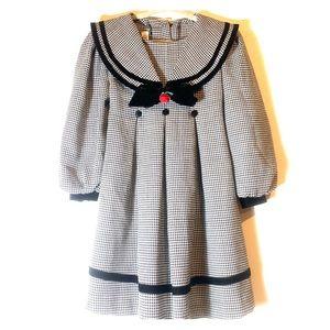 Vintage Bonnie Jean Houndstooth Velvet Dress 3T